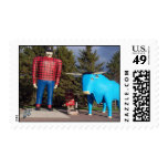 """Paul & Babe"" Postage Stamp"
