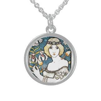 Paul Berthon Salon Des Cent French Art Nouveau Personalized Necklace