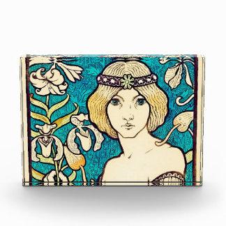 Paul Berthon Salon Des Cent Vintage Art Nouveau Acrylic Award