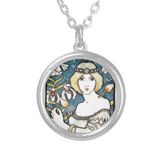 Paul Berthon Salon Des Cent Vintage Art Nouveau Silver Plated Necklace