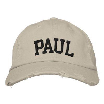 Paul bordó el gorra gorra de béisbol