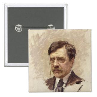 Paul Bourget  c.1895 Pinback Button