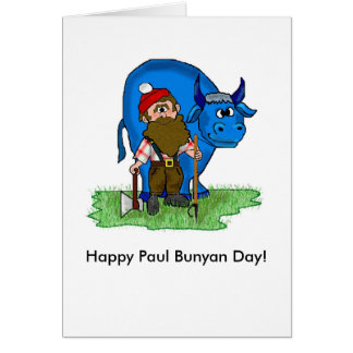 Paul Bunyan Day Note Cards by Brownielocks