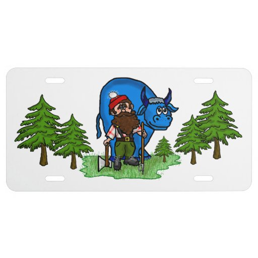 Paul Bunyan Decorative Front License Plate
