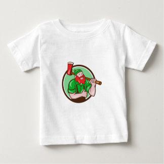 Paul Bunyan Lumberjack Axe Thumbs Up Circle Cartoo Baby T-Shirt
