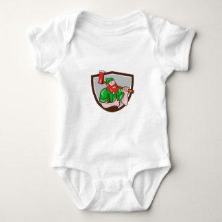 Paul Bunyan Lumberjack Axe Thumbs Up Crest Cartoon Baby Bodysuit