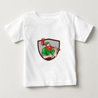 Paul Bunyan Lumberjack Axe Thumbs Up Crest Cartoon Baby T-Shirt