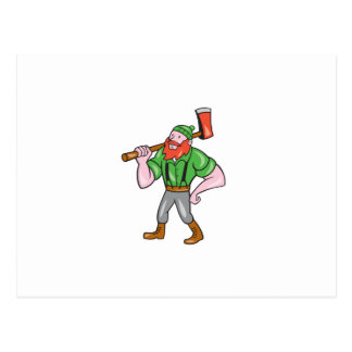 Paul Bunyan LumberJack Isolated Cartoon Post Card