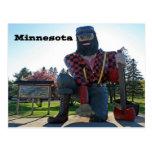 Paul Bunyan Minnesota Sourvenir Tarjeta Postal