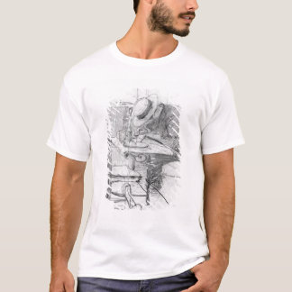 Paul Cesar Helleu at a table in a cafe T-Shirt