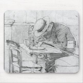 Paul Cesar Helleu en una tabla en un café Tapete De Ratones