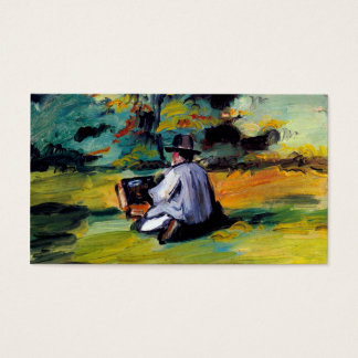 Paul Cezanne A Painter at Work impressionist art Business Card