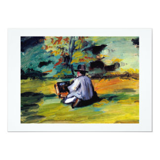 Paul Cezanne A Painter at Work impressionist art Card