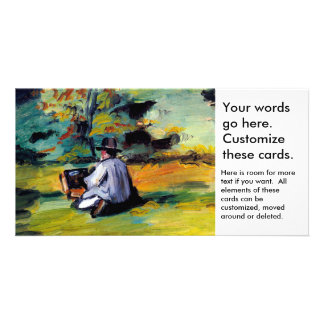 Paul Cezanne A Painter at Work impressionist art Photo Card Template
