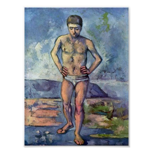 Paul Cezanne A Swimmer. Poster