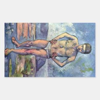 Paul Cezanne - A Swimmer Rectangular Sticker