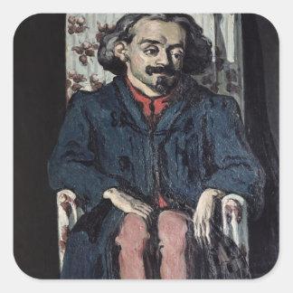 Paul Cezanne   Achille Emperaire  c.1878 Square Sticker