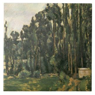 Paul Cezanne - álamos Azulejo Cuadrado Grande