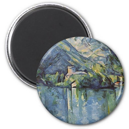 Paul Cézanne - Annecy Lake 2 Inch Round Magnet