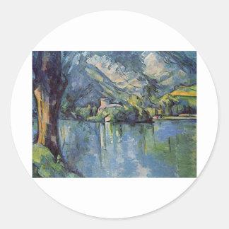 Paul Cézanne - Annecy Lake Classic Round Sticker