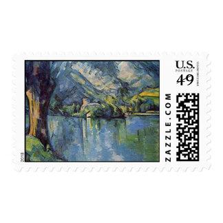 Paul Cézanne - Annecy Lake Postage