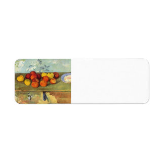 Paul Cezanne- Apples and Biscuits Return Address Label