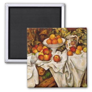 Paul Cézanne - Apples and Oranges 2 Inch Square Magnet