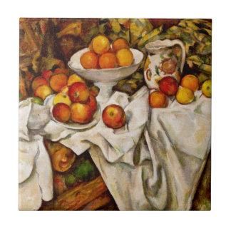 Paul Cézanne - Apples and Oranges Ceramic Tile