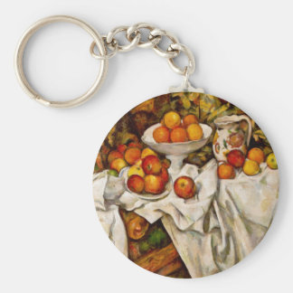 Paul Cézanne - Apples and Oranges Keychain