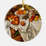 Paul Cézanne - Apples and Oranges Christmas Ornament