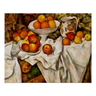 Paul Cézanne - Apples and Oranges Poster