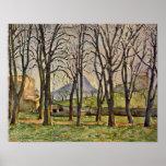 Paul Cezanne - árboles de castaña (Jas de Bouffan) Póster