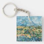 Paul Cezanne Art Single-Sided Square Acrylic Keychain