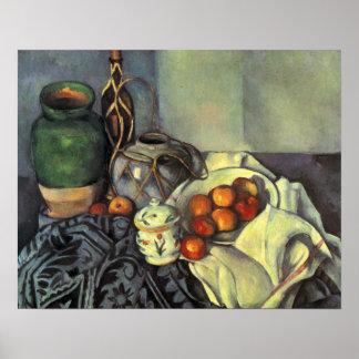 Paul Cezanne, aún vida con la fruta Póster