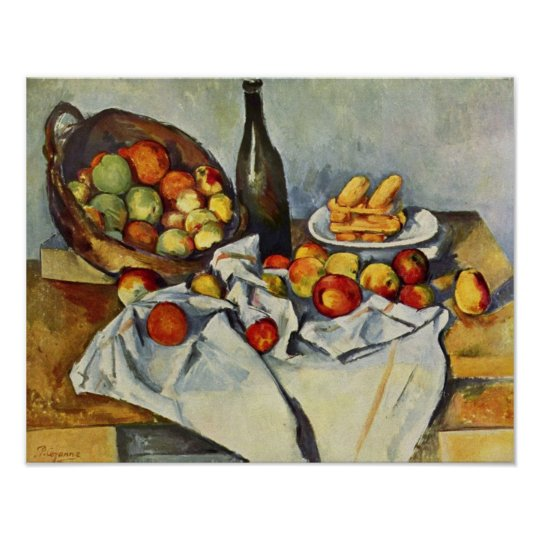 Paul Cezanne Basket Of Apples Still Life Print Zazzle Com