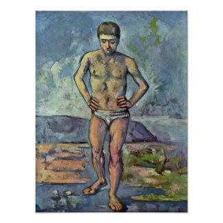 Paul Cezanne - Bather Poster