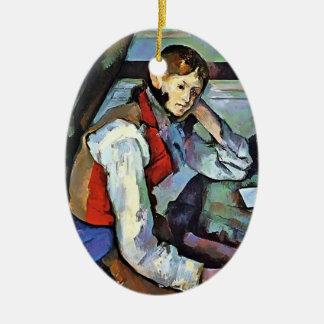 Paul Cezanne- Boy in a Red Vest Ornament