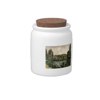 Paul Cezanne- Bridge and Waterfall at Pontoise Candy Jars