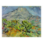 Paul Cezanne - camino a Montagne Sainte-Victoire Poster