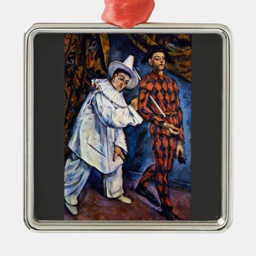 Paul Cezanne - carnaval Adorno Cuadrado Plateado