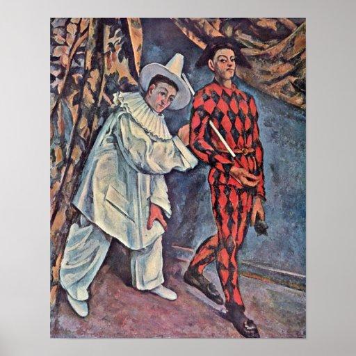 Paul Cezanne - carnaval Póster
