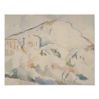 Paul Cezanne-Chateau Noir and Mont Sainte-Victoire Poster