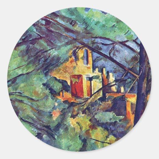 Paul Cezanne - Chateau Noir The Black Manor Classic Round Sticker