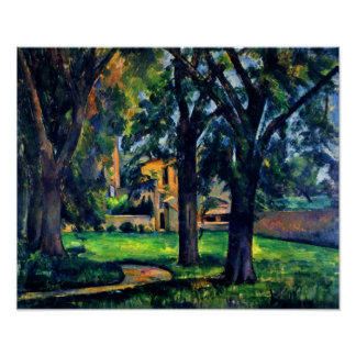 Paul Cezanne - Chestnut trees and outbuildings Poster