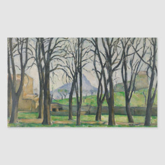 Paul Cezanne - Chestnut Trees at Jas de Bouffan Rectangular Sticker