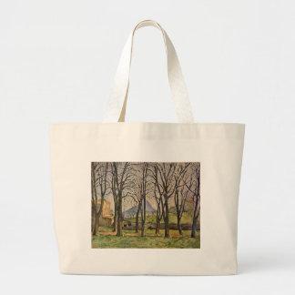 Paul Cezanne: Chestnut Trees in the Jas de Bouffan Large Tote Bag