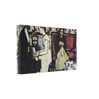 Paul Cezanne - chica en el piano Lona Estirada Galerias