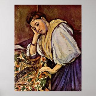 Paul Cezanne - chica italiano joven Posters