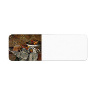 Paul Cezanne- Compotier and Plate of Biscuits Return Address Label
