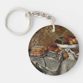 Paul Cezanne- Compotier y placa de galletas Llaveros
